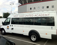 West Ham United from Season Car Hire